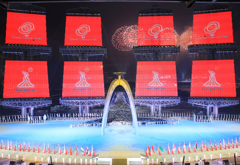 Riedel supplied an intercom system for the Asian Games opening and closing ceremonies.