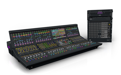 The Avid VENUE|S6L live mixing system.