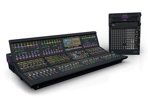 The Avid Venue S6|L live mixing system.