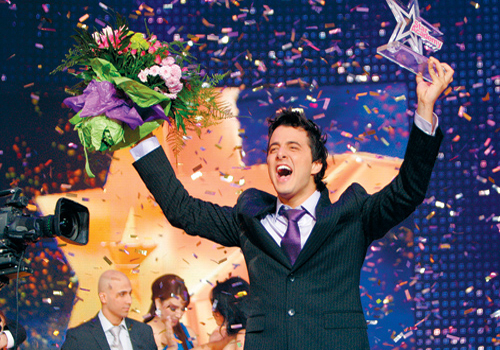 Nader Qirat celebrates victory in the popular Star Academy show. The format is one of many programmes originated in the west, then adapted and produce