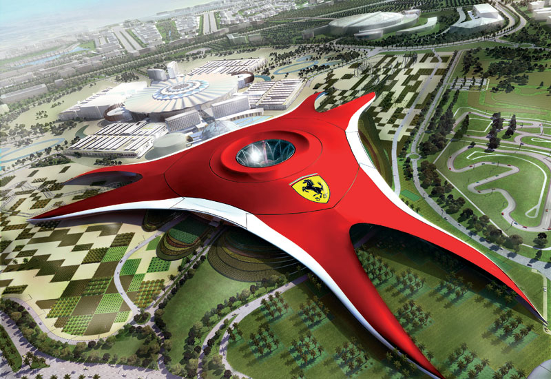 Ferrari World is one of the major highlights of the Yas Island development.