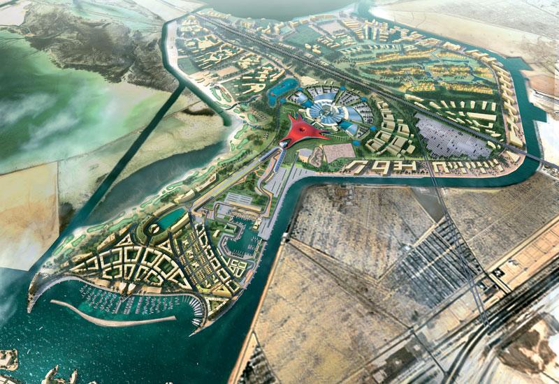The Abu Dhabi F1 track is colocated with Yas Island Marina and Ferrari World.