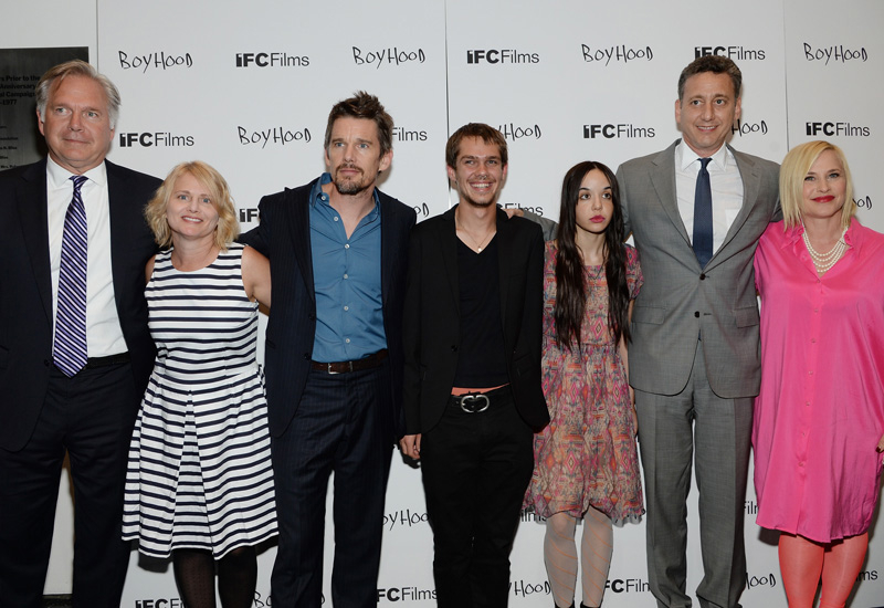 Members of the cast and crew attend the NY premiere of 'Boyhood'