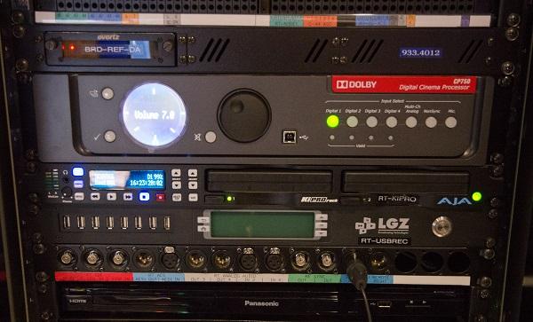 VSM's AJA KiProHD Recorder rack
