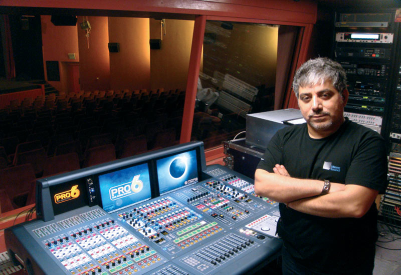 Tony Khoury, Casino du Liban's chief sound engineer.