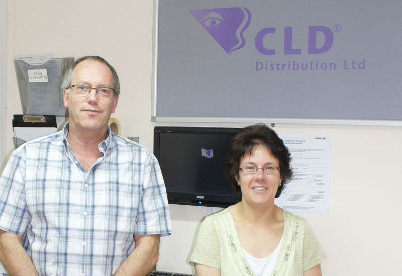 CLD's Nigel Howes and Sandra Connolley.