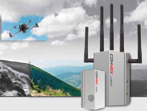 CONNEX by Amimon, brings broadcast HD video quality and robust standards to the UAV aerial video arena.