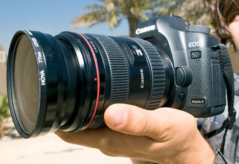 The Canon 5D Mark II is a DSLR camera offers a cost-effective option for making TVCs, according to DoP Glen.