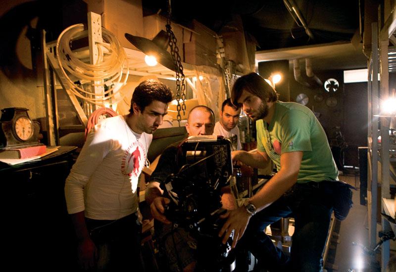 From left: Director Nizar Sfair, focus puller Alexandro Martella, key grip Ibrahim Touma and Harvey Glen.
