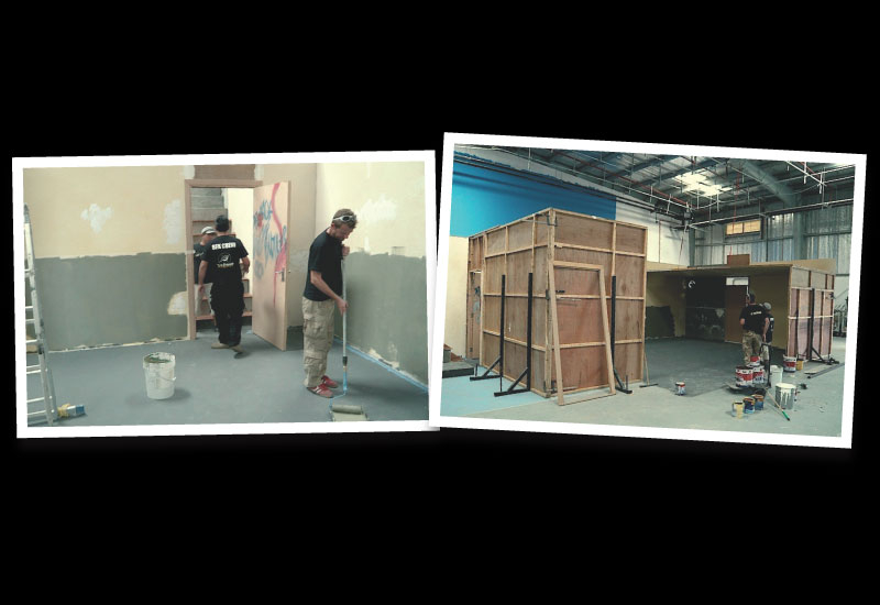 The Eye Squad team sets the stage for the action at its studio in IMZPZ.