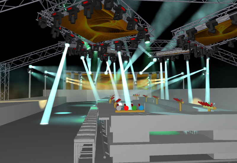 Capture allows lighting designers to simulate rigging, lighting, video, moving scenery, lasers & special effects.