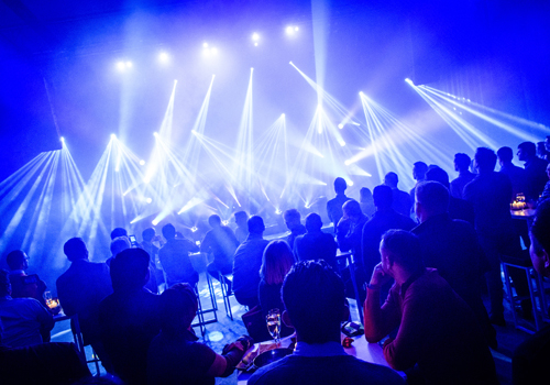 The grand opening featured a spectacular light show using Chauvet fixtures.