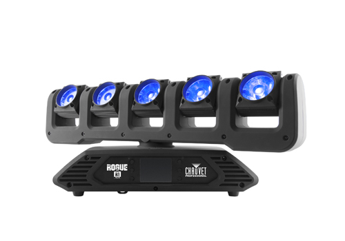 The new Rogue R1 FX-B has five individually-controlled pixel mappable 15-watt RGBW LEDs.