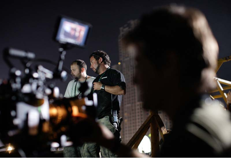 On the set of the first fully Emirati-funded feature-length movie, City of Life.