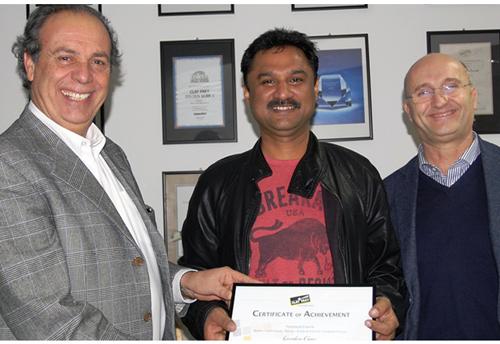 Pio Nahum, CEO Clay Paky; Gordon Carr, Clay Paky service centre in Dubai; Alberico D'Amato, Clay Paky head of sales.