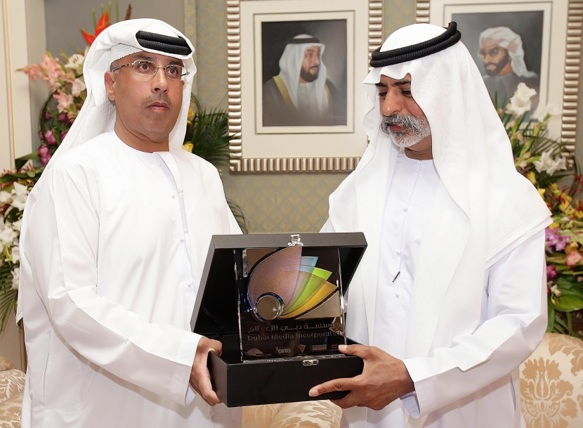 Ahmed Abdullah Al Sheikh, MD of DMI with HH Sheikh Nahyan Bin Mubarak Al Nahyan, UAE Minister for Higher Education and Scientific Research.