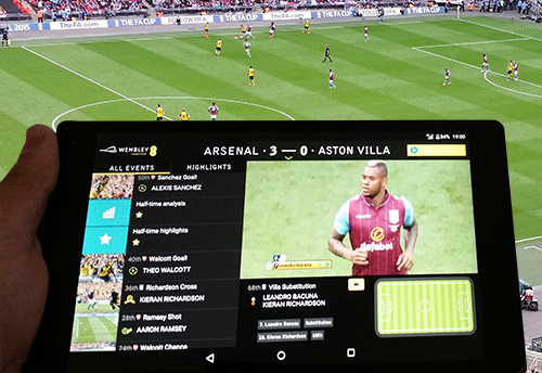 2015, 4G, Arsenal, Aston Villa, Broadcast, EE, EVS, FA Cup, FA Cup Final, Fancast, Football, Wembley Stadium, News, Delivery & Transmission