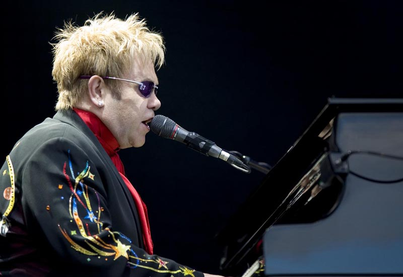 Elton John performed in Monaco as part of the Monte Carlo Sporting Summer Festival.