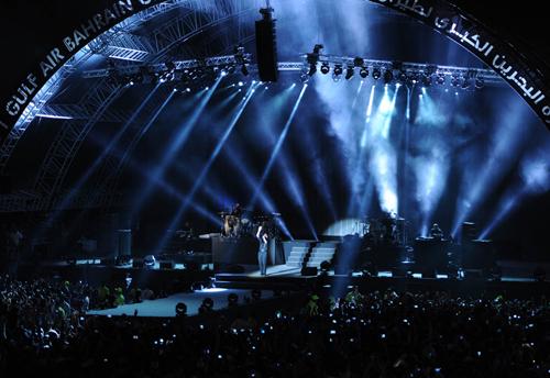 2015, Bahrain, Clay paky, Concert, Design, Formula 1, Lighting, Lights, Mythos, Pitbull, Sonu A.B., News, Content production