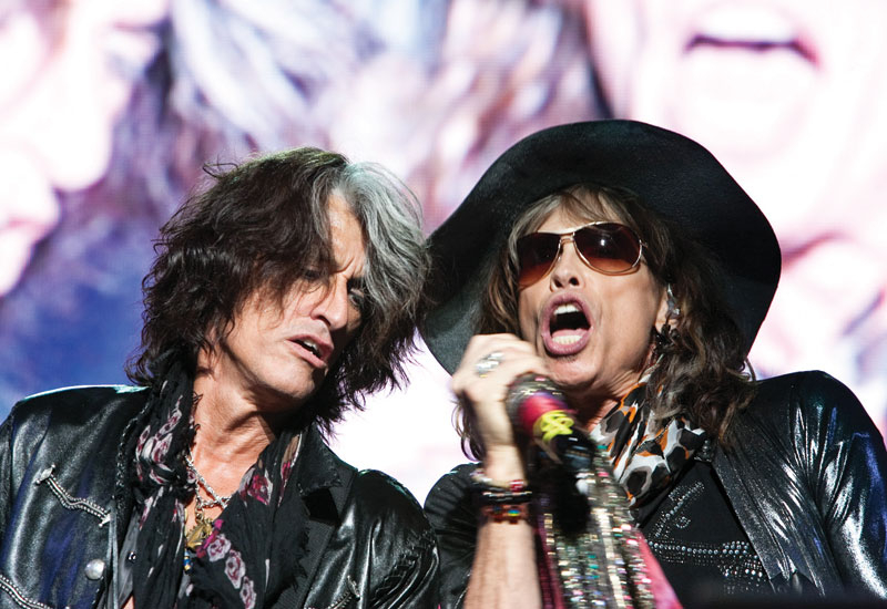 While Aerosmith rounded out the final night's event.