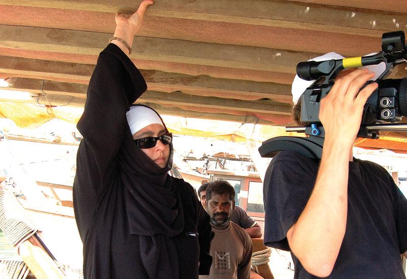 Alhamrani on a shoot in the Kingdom of Saudi Arabia.