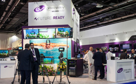 Grass Valley exhibited at CABSAT in Dubai in March.