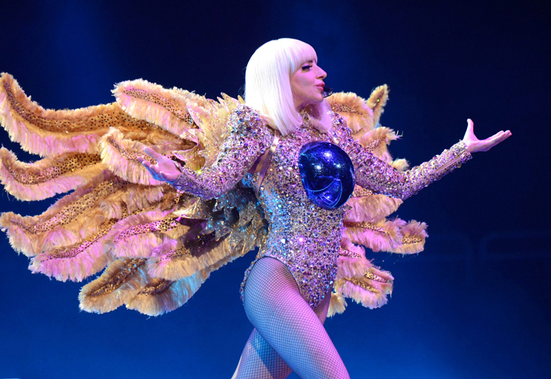 Gaga performs live for her Little Monsters