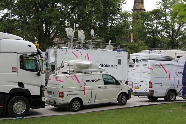 Globecast will deliver content via satellite while WinMedia will cover the backend