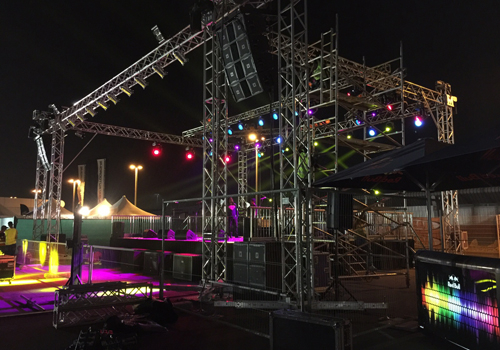 Setting the stage for Gulf Bike Week 2015.