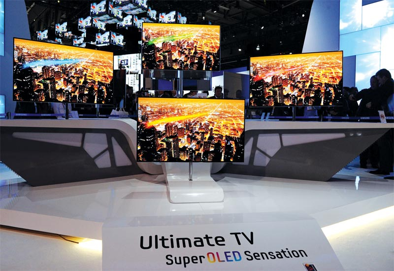 While there are no 4K TV screens in mass production today, companies have already produced and displayed prototype screens.