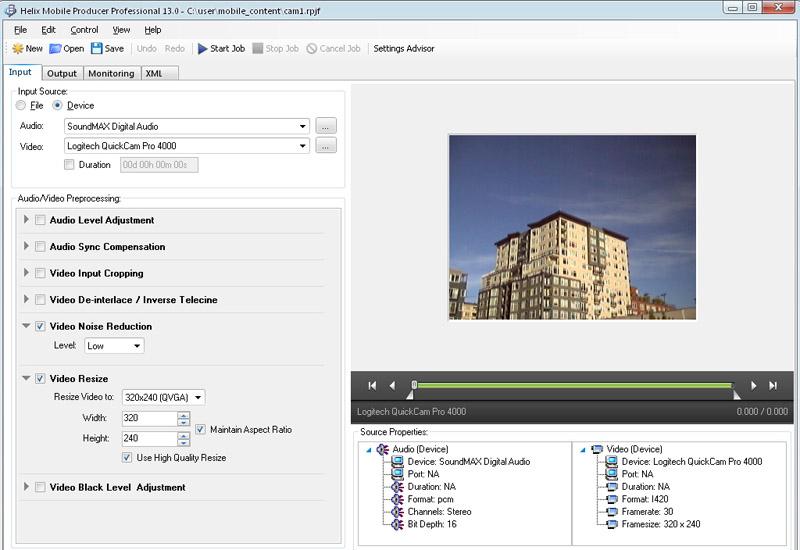 A screenshot from RealNetworks' Helix Media Delivery Platform.