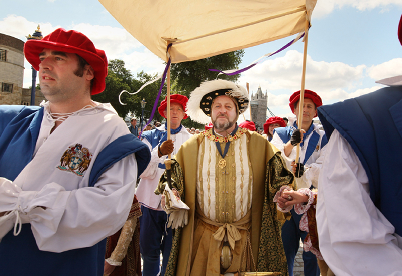 The gig took place during celebrations of the coronation of King Henry VIII.