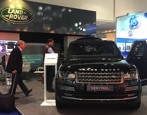 Land Rover's Intersec 2016 exhibition stand.