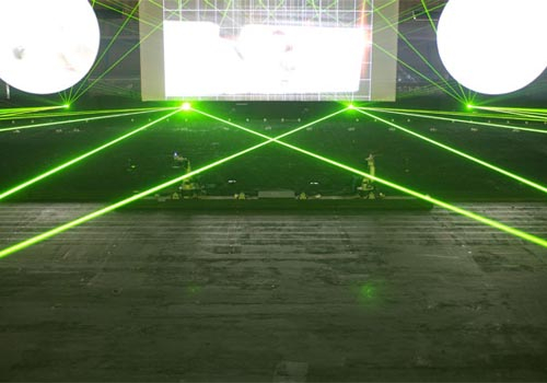 The Abu Dhabi Police anniversary celebration utilised a range of laser effects.