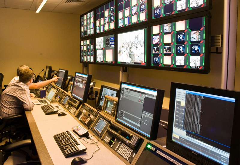 A control room at Intaj.
