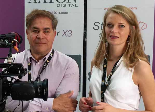Karine Fouque (right) joins the team led by Jacques Delacoux, president of Transvideo and Aaton Digital (left).