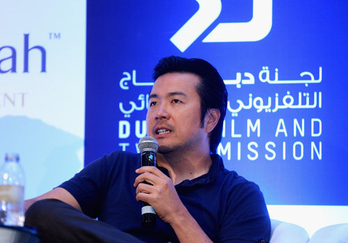 Director and producer Justin Lin at the 'Star Trek Beyond' press conference in Dubai last week.