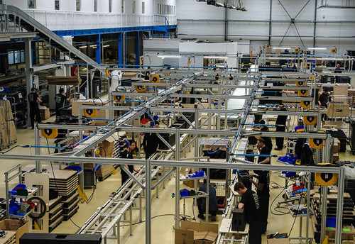 The new L'Acoustics production facility in action.