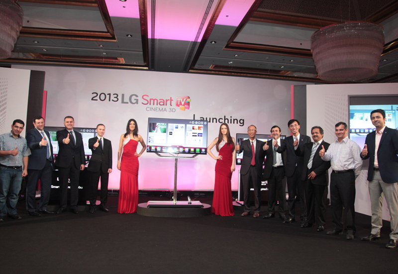 The LG team launch the new range.