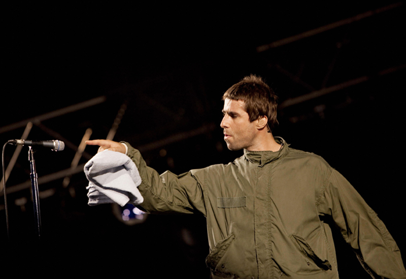 Oasis' Liam Gallagher.