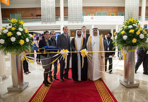 H.E. Essa Al Maidoor, Director General of the Dubai Health Authority & President of the Society of Engineers, opens the exhibition.
