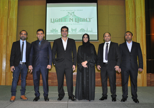 The welcome event at Abu Dhabi's Dusit Thani hotel.