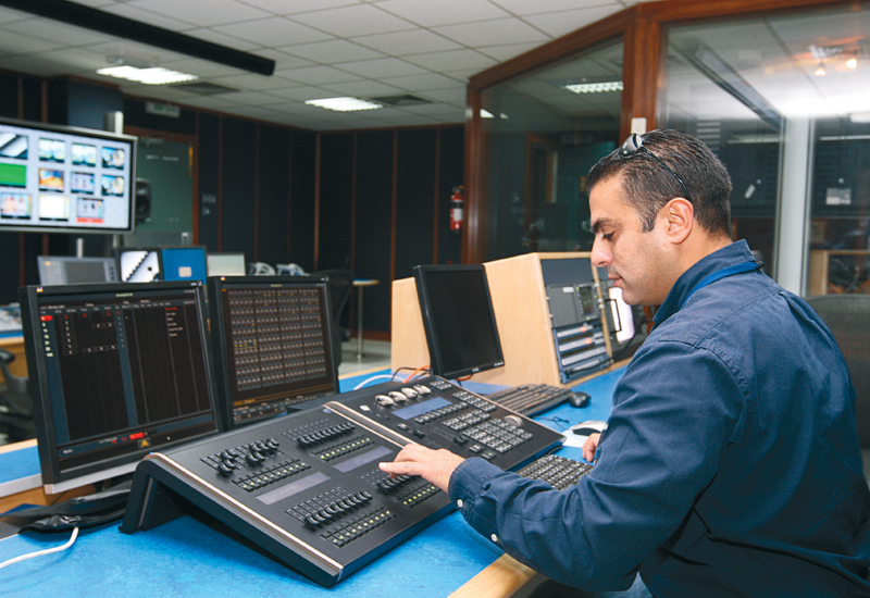 Haddad demonstrates the capabilities of DMI's new ETC Ion console.
