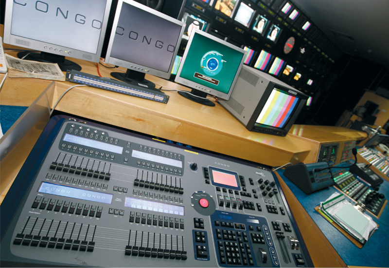ETC Congo lighting consoles are still used by staff at Dubai Media Incorporated .