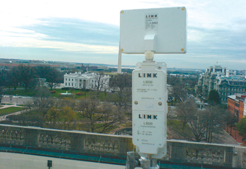 A Link installation at the Chamber of Commerce roof in Washington.