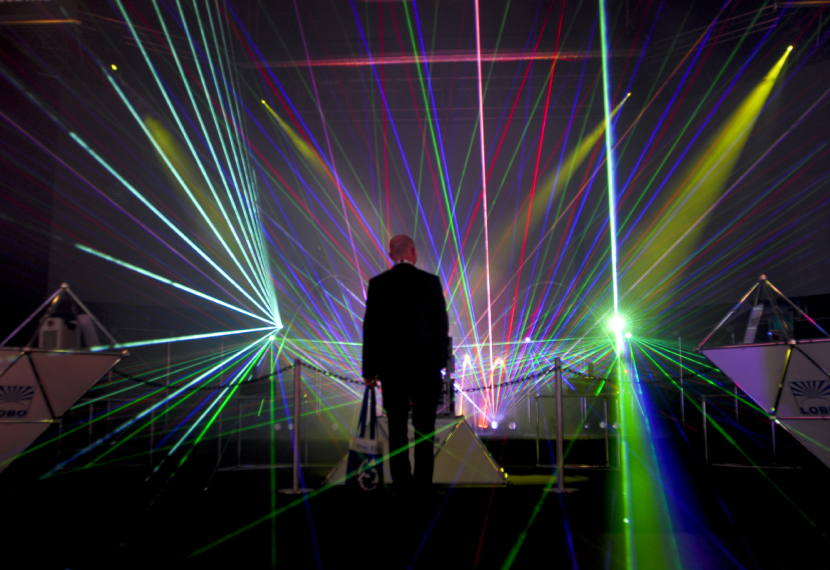 Lobo's laser light show attracted much attention at the 2009 installment of PALME Middle East.