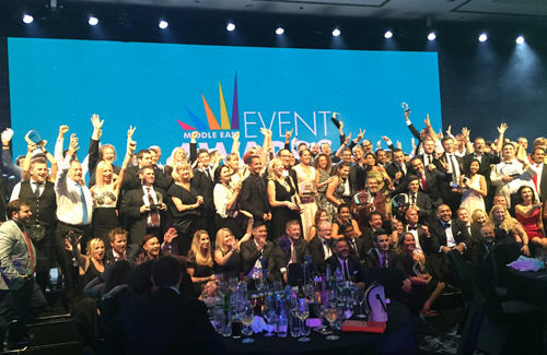 The winners at 2015's Middle East EVENT Awards.