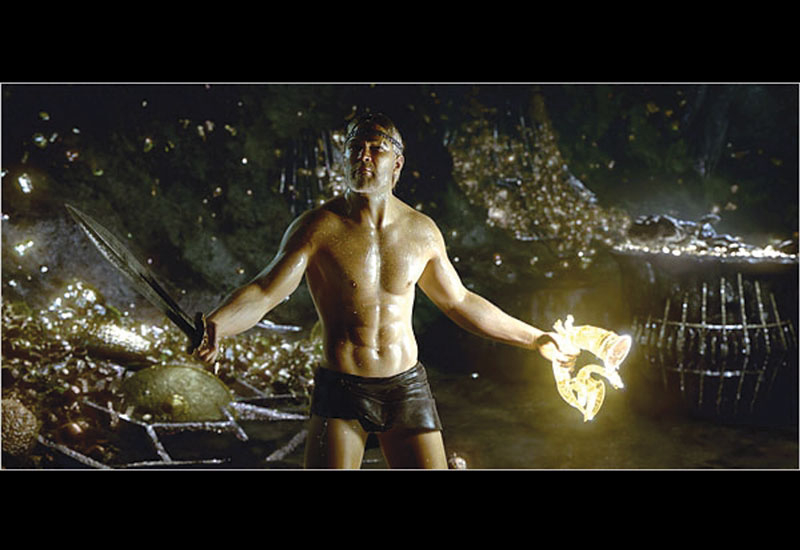 A scene from Beowulf, which was a huge success and propelled Mocap forward.