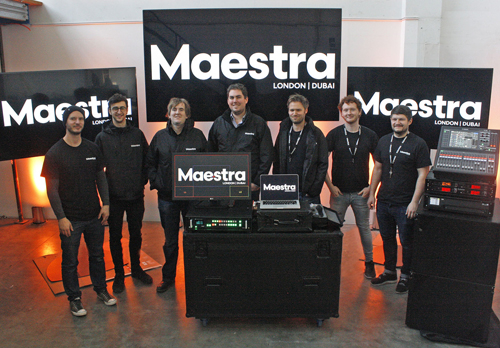 The Maestra London team with some of the new gear.