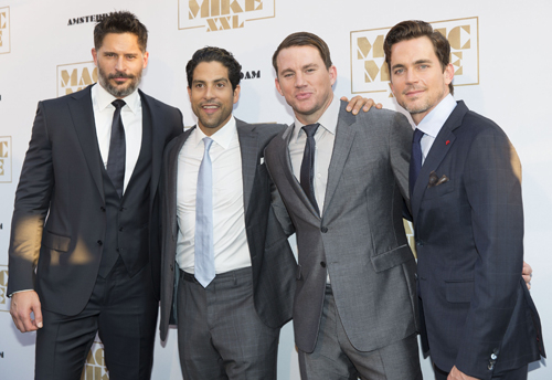 The Magic Mike XXL cast (L-R) Joe Manganiello, Adam Rodriguez, Channing Tatum and Matt Bomer.